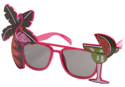 Angle of SW Novelty Sunglasses #540188 in Pink, Women's and Men's