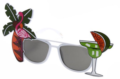 Angle of SW Novelty Sunglasses #540188 in White, Women's and Men's
