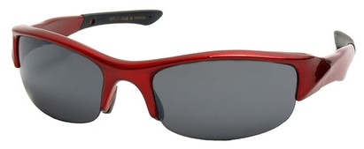 Angle of SW Sport Style #278 in Red with Smoke Lenses, Women's and Men's