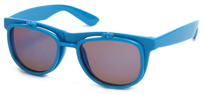 Angle of SW Flip-Up Style #1411 in Blue Frame, Women's and Men's