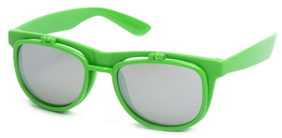 Angle of SW Flip-Up Style #1411 in Green Frame, Women's and Men's