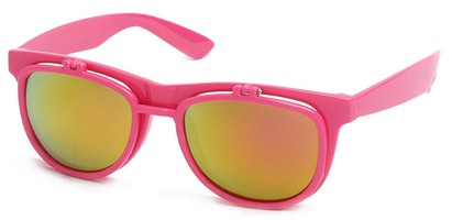 Angle of SW Flip-Up Style #1411 in Pink Frame, Women's and Men's