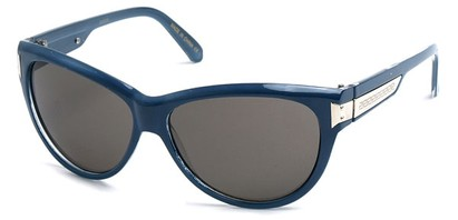 Navy Blue Cat Eye Sunglasses
