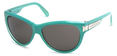 Teal Cat Eye Sunglasses