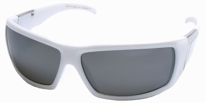 Angle of SW Sport Style #422 in White Frame, Women's and Men's
