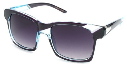 Angle of SW Striped Retro Style #537 in Blue and Purple Frame, Women's and Men's