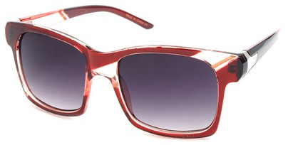 Angle of SW Striped Retro Style #537 in Red and Pink Frame, Women's and Men's