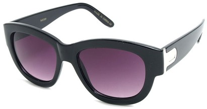 Angle of SW Retro Style #3091 in Black Frame, Women's and Men's