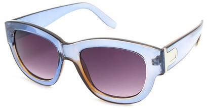 Angle of SW Retro Style #3091 in Clear Blue Frame, Women's and Men's