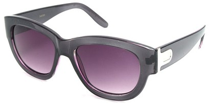 Angle of SW Retro Style #3091 in Black and Purple Frame, Women's and Men's