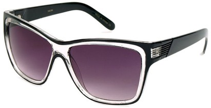 Angle of SW Fashion Style #1106 in Black and Clear Frame, Women's and Men's