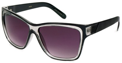 Angle of SW Fashion Style #1106 in Black and Grey Frame, Women's and Men's
