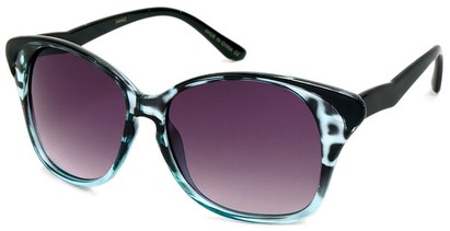 Angle of SW Cat Eye Style #934 in Blue Tortoise and Black Frame, Women's and Men's
