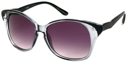 Angle of SW Cat Eye Style #934 in Black and Clear Frame, Women's and Men's
