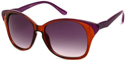 Angle of SW Cat Eye Style #934 in Purple and Orange Frame, Women's and Men's
