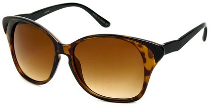 Angle of SW Cat Eye Style #934 in Brown Tortoise and Black Frame, Women's and Men's