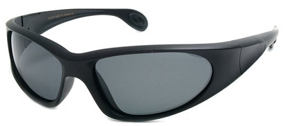 Angle of SW Polarized Sport Style #540150 in Matte Black with Smoke, Women's and Men's