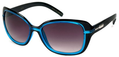 Angle of SW Oversized Style #1005 in Black and Blue Frame, Women's and Men's
