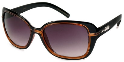 Angle of SW Oversized Style #1005 in Black and Brown Frame, Women's and Men's
