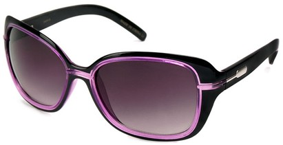 Angle of SW Oversized Style #1005 in Black and Purple Frame, Women's and Men's
