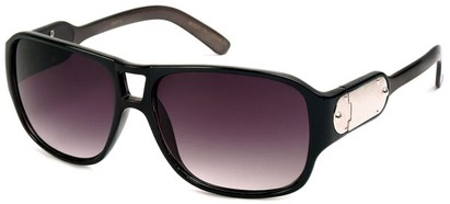 Angle of SW Retro Aviator Style #8195 in Black Frame, Women's and Men's