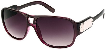 Angle of SW Retro Aviator Style #8195 in Purple Frame, Women's and Men's