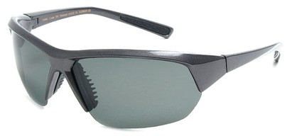 Angle of SW Polarized Sport Style #8790 in Grey Frame with Smoke Lenses, Women's and Men's
