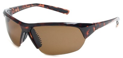 Angle of SW Polarized Sport Style #8790 in Brown Tortoise Frame with Amber Lenses, Women's and Men's