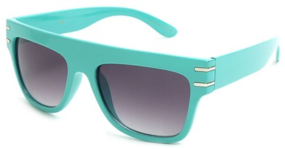 Angle of SW Retro Style #240 in Turquoise Blue Frame, Women's and Men's