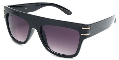 Angle of SW Retro Style #240 in Black Frame, Women's and Men's