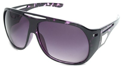 Angle of SW Fashion Oversized Style #3217 in Purple Tortoise Frame with Purple Lenses, Women's and Men's