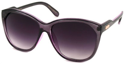 Angle of SW Oversized Retro Style #1223 in Clear Purple/Grey Frame, Women's and Men's