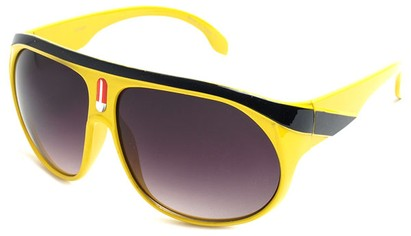 Angle of SW Celebrity Aviator Style #2798 in Yellow Frame, Women's and Men's