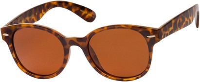Angle of Casa Blanca #1281 in Tan Tortoise Frame with Amber Lenses, Women's and Men's Retro Square Sunglasses