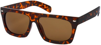 Angle of SW Retro Style #13511 in Brown Tortoise Frame, Women's and Men's
