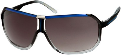 Angle of SW Oversized Aviator Style #7001 in Blue/Grey Fade Frame, Women's and Men's