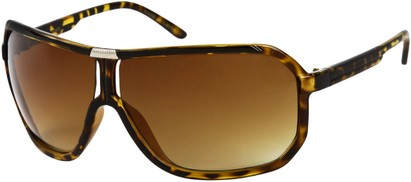 Angle of SW Oversized Aviator Style #7001 in Yellow Tortoise Frame, Women's and Men's