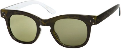 Angle of SW Retro Style #48 in Green /White Tortoise Frame, Women's and Men's