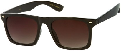 Angle of Taj #95 in Glossy Black Frame, Women's and Men's Retro Square Sunglasses