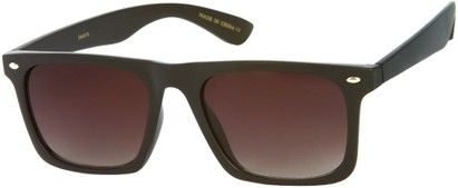 Angle of Taj #95 in Matte Black Frame, Women's and Men's Retro Square Sunglasses