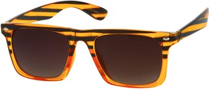 Angle of Taj #95 in Brown Tiger Frame, Women's and Men's Retro Square Sunglasses