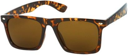 Angle of Taj #95 in Brown Tortoise Frame, Women's and Men's Retro Square Sunglasses