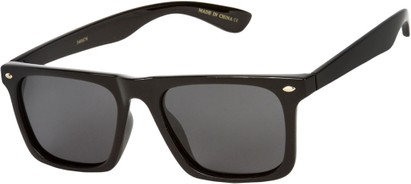Angle of SW Polarized Style #1229 in Black Frame with Grey Lenses, Women's and Men's