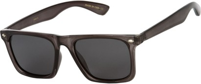 Angle of SW Polarized Style #1229 in Grey Frame with Grey Lenses, Women's and Men's