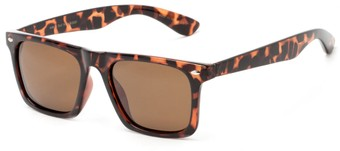 Angle of Hawkins #5476 in Tortoise Frame with Amber Lenses, Women's and Men's Retro Square Sunglasses