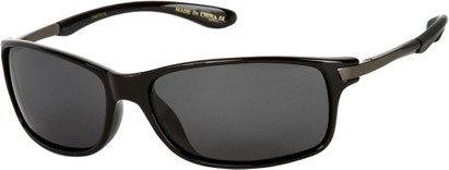 Angle of Renegade #1023 in Black/Grey Frame with Smoke Lenses, Women's and Men's Sport & Wrap-Around Sunglasses