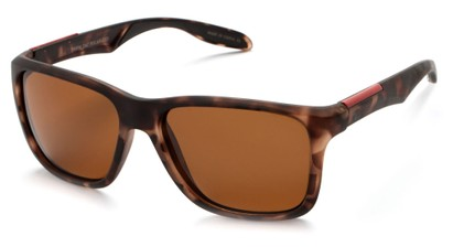 Angle of Carlsbad #5496 in Matte Tortoise Frame with Brown Lenses, Women's and Men's  Sunglasses