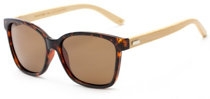 Angle of Valencia #5490 in Glossy Tortoise Frame with Amber Lenses, Women's Retro Square Sunglasses