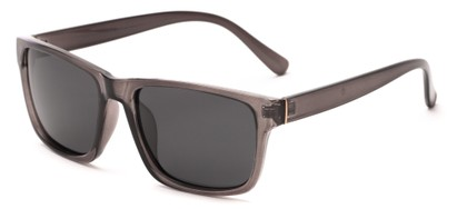 Angle of Hardy #4094 in Grey Frame with Grey Lenses, Women's and Men's Retro Square Sunglasses