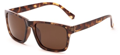 Angle of Hardy #4094 in Tortoise Frame with Amber Lenses, Women's and Men's Retro Square Sunglasses